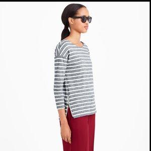 J.crew side zip striped t-shirt